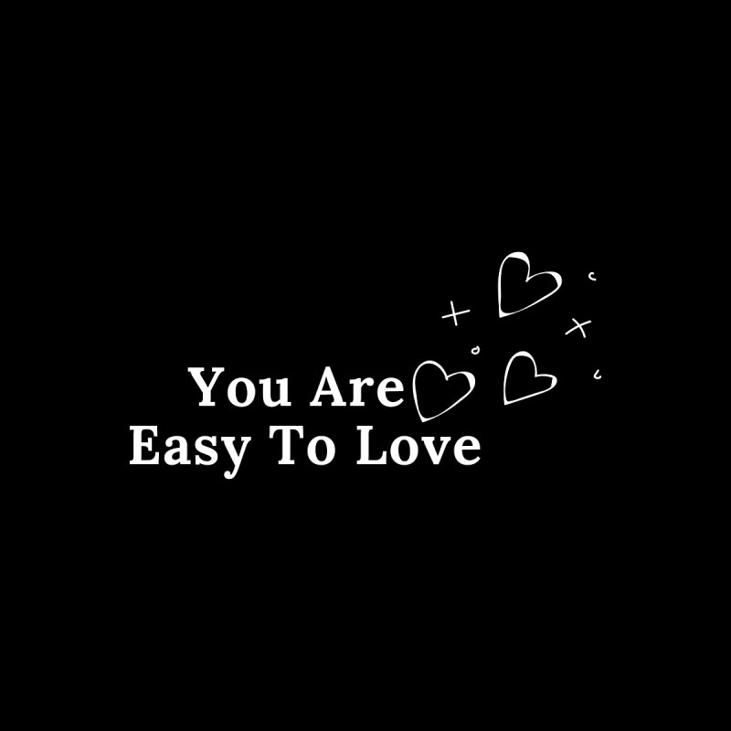 You Are Easy To Love Accessories Sticker by Shop As You Wish Publishing