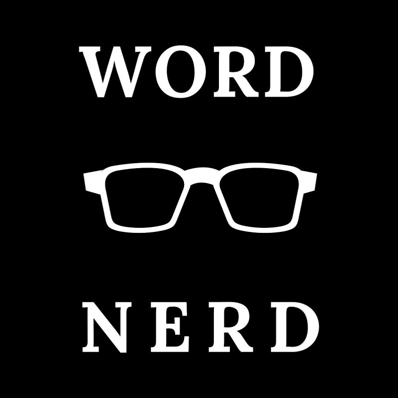 Word Nerd Glasses Accessories Bag by Shop As You Wish Publishing