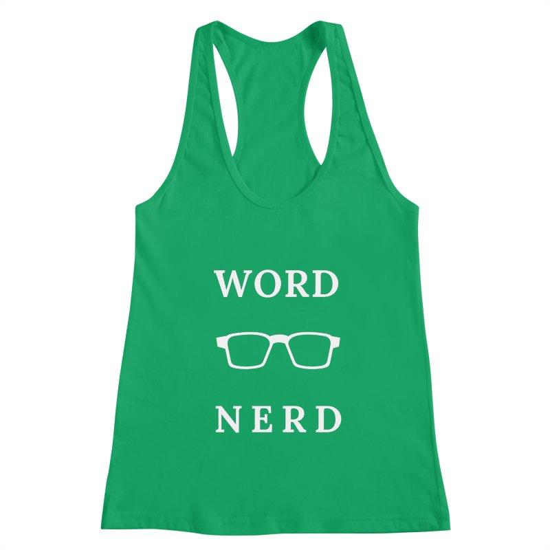 Word Nerd Glasses Women's Tank by Shop As You Wish Publishing