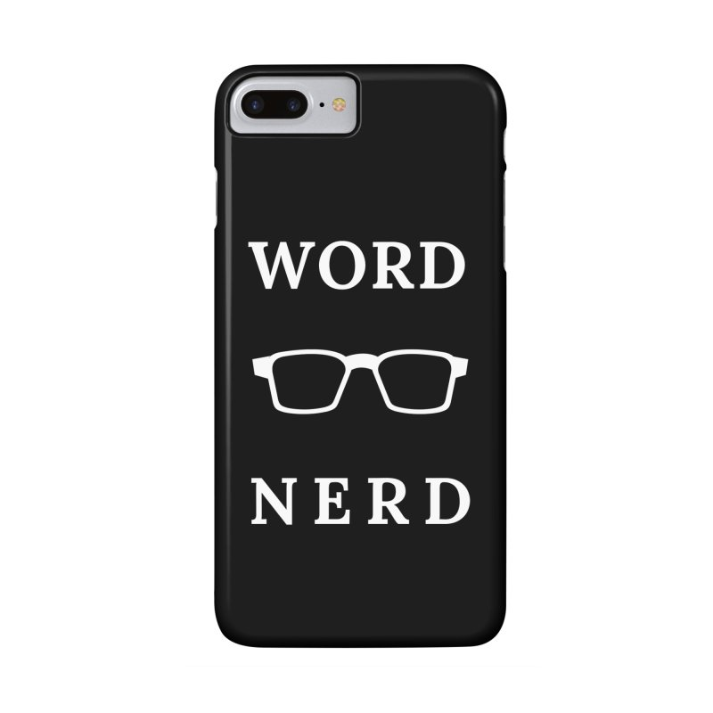 Word Nerd Glasses Accessories Phone Case by Shop As You Wish Publishing