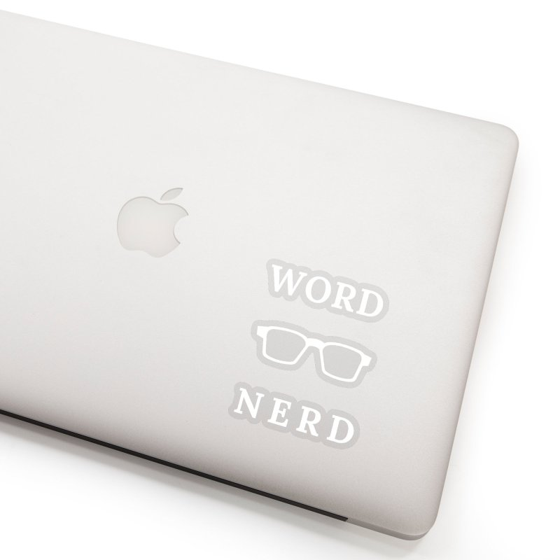 Word Nerd Glasses Accessories Sticker by Shop As You Wish Publishing