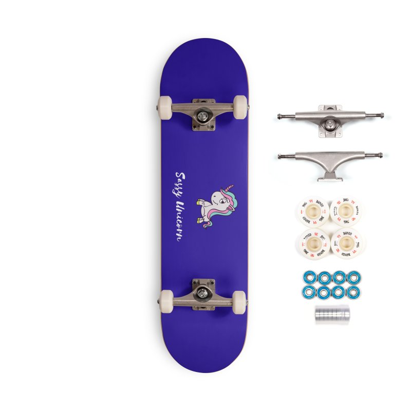 Sassy Unicorn Accessories Skateboard by Shop As You Wish Publishing
