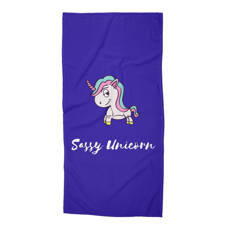 Sassy Unicorn Accessories Beach Towel by Shop As You Wish Publishing