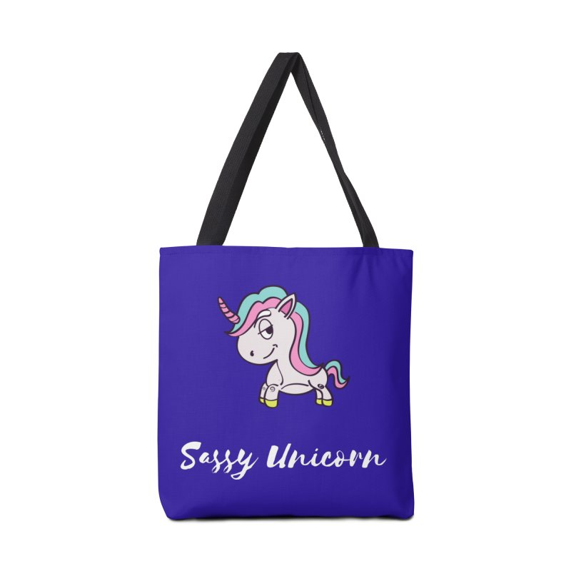 Sassy Unicorn Accessories Bag by Shop As You Wish Publishing
