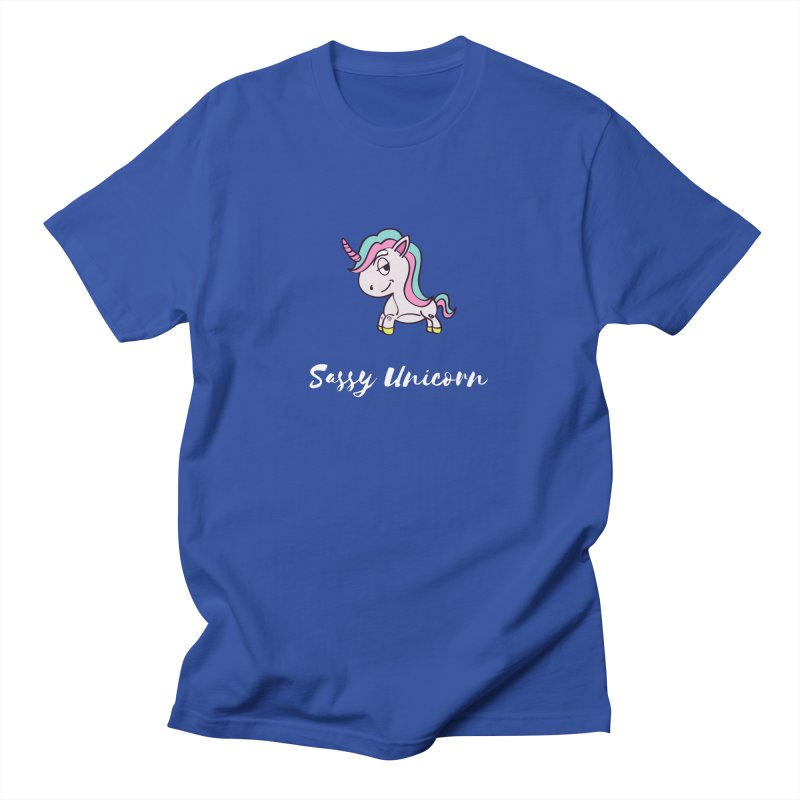 Sassy Unicorn Men's T-Shirt by Shop As You Wish Publishing
