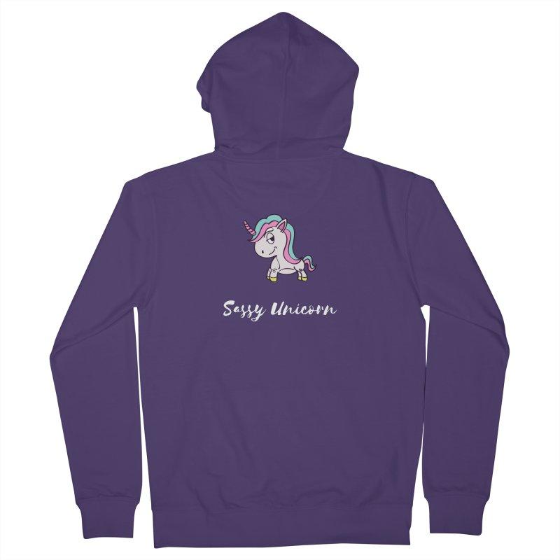 Sassy Unicorn Women's Zip-Up Hoody by Shop As You Wish Publishing