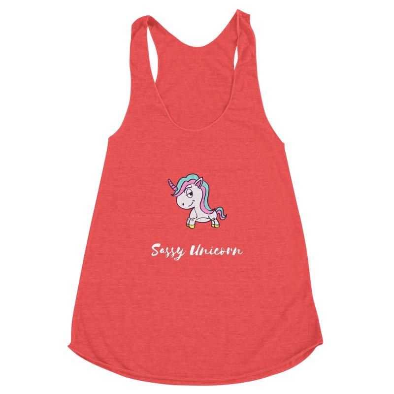 Sassy Unicorn Women's Tank by Shop As You Wish Publishing