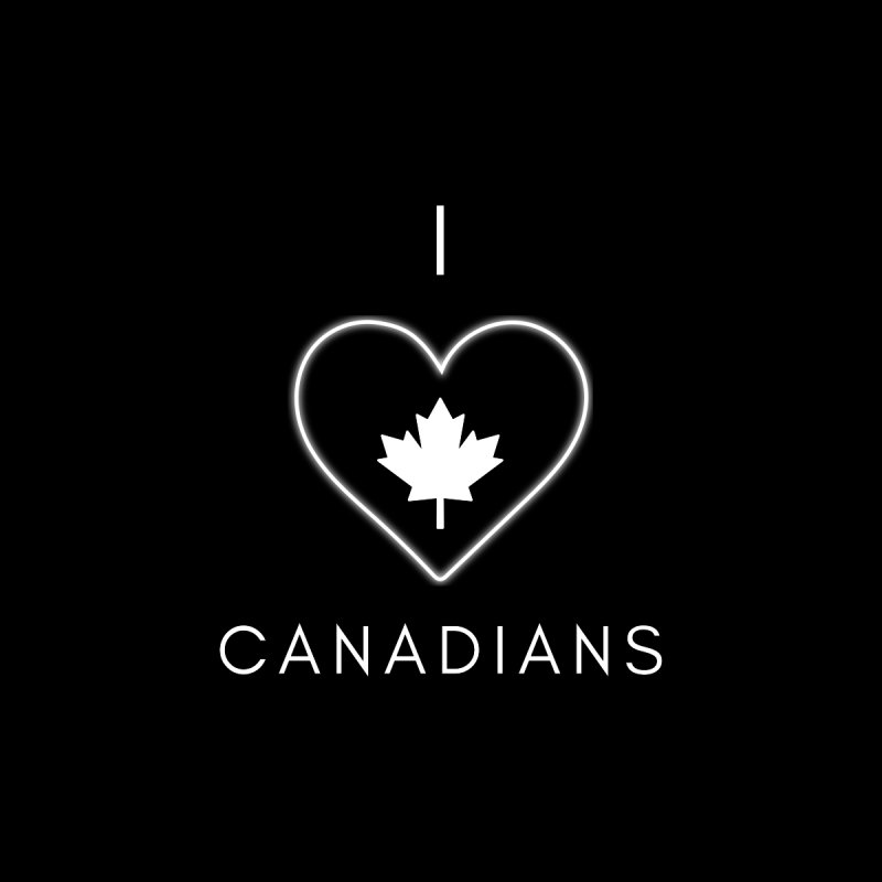 I Heart Canadians Men's T-Shirt by Shop As You Wish Publishing
