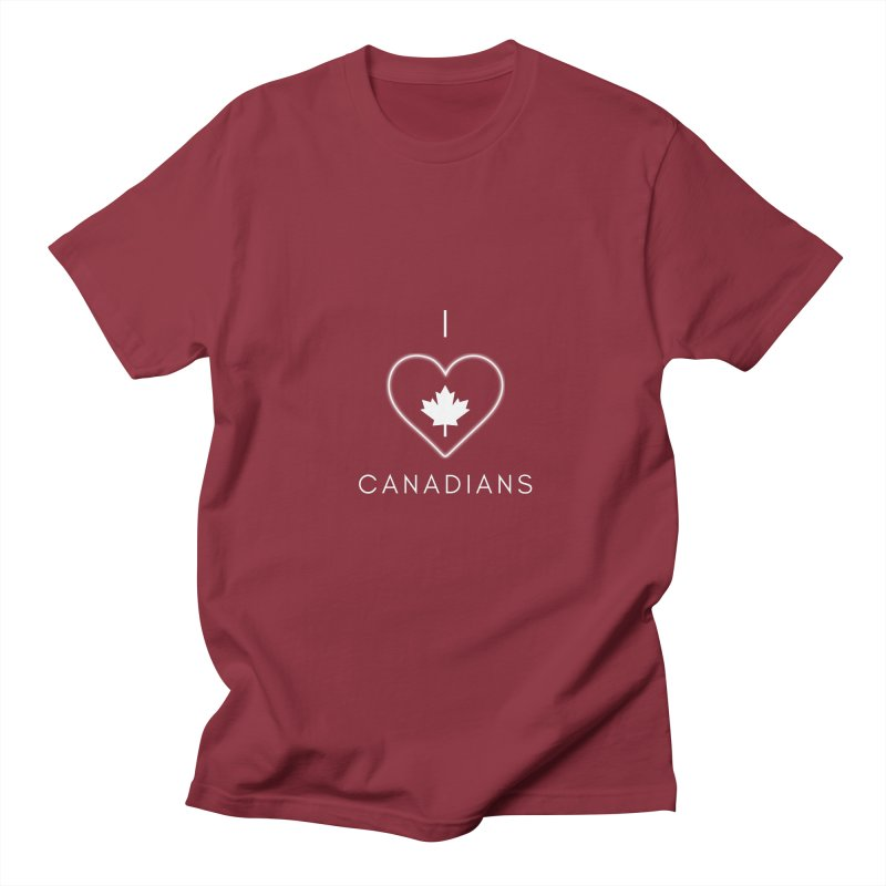 I Heart Canadians Men's T-Shirt by Shop As You Wish Publishing