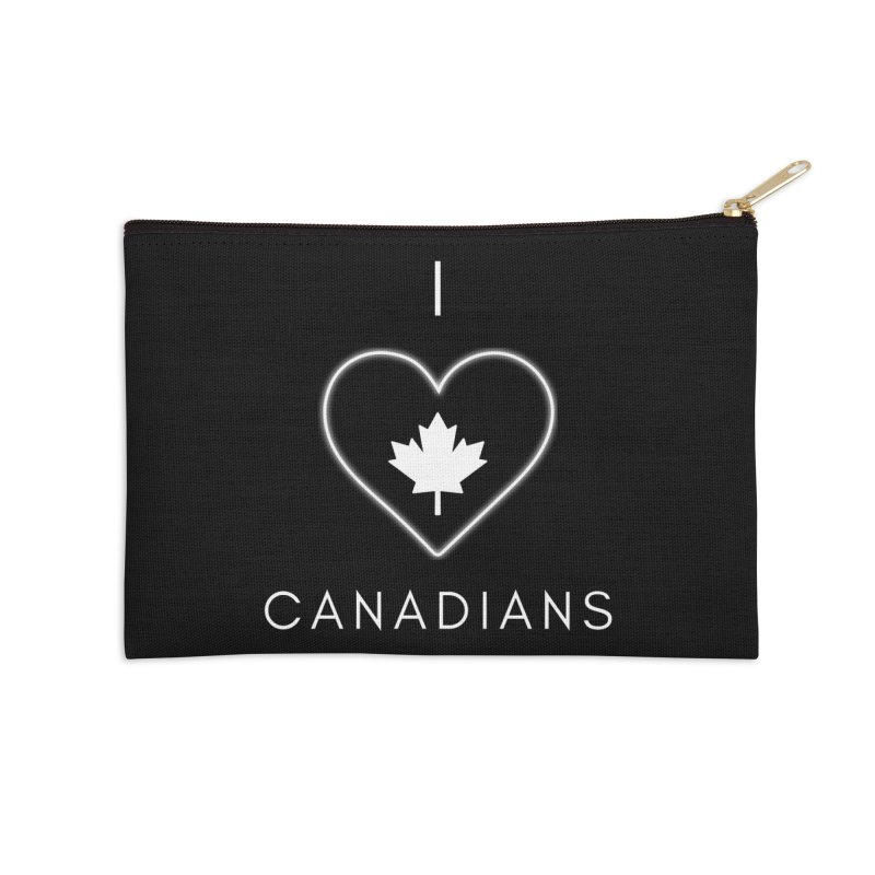 I Heart Canadians Accessories Zip Pouch by Shop As You Wish Publishing