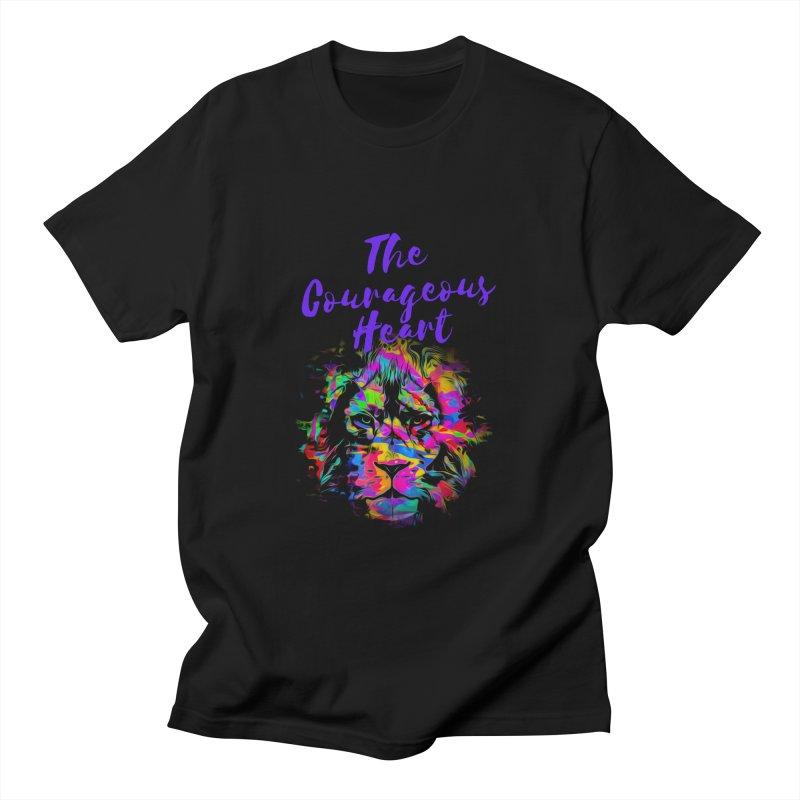 Courageous Heart Men's T-Shirt by Shop As You Wish Publishing