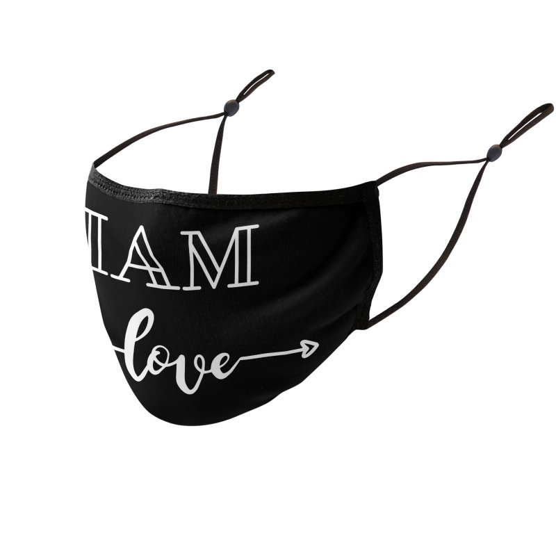 I Am Love Accessories Face Mask by Shop As You Wish Publishing