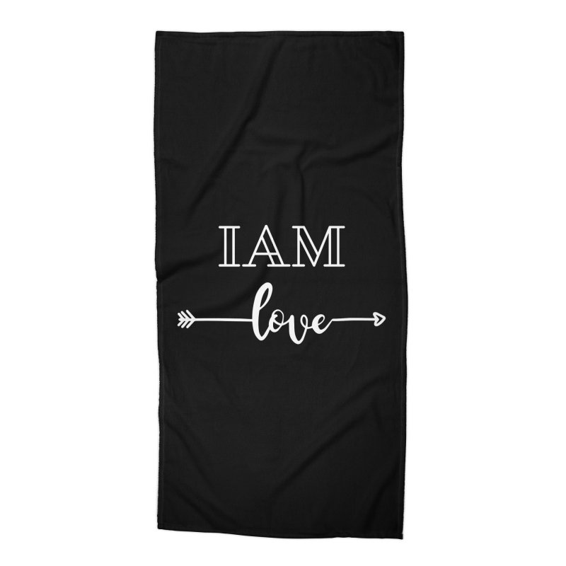 I Am Love Accessories Beach Towel by Shop As You Wish Publishing