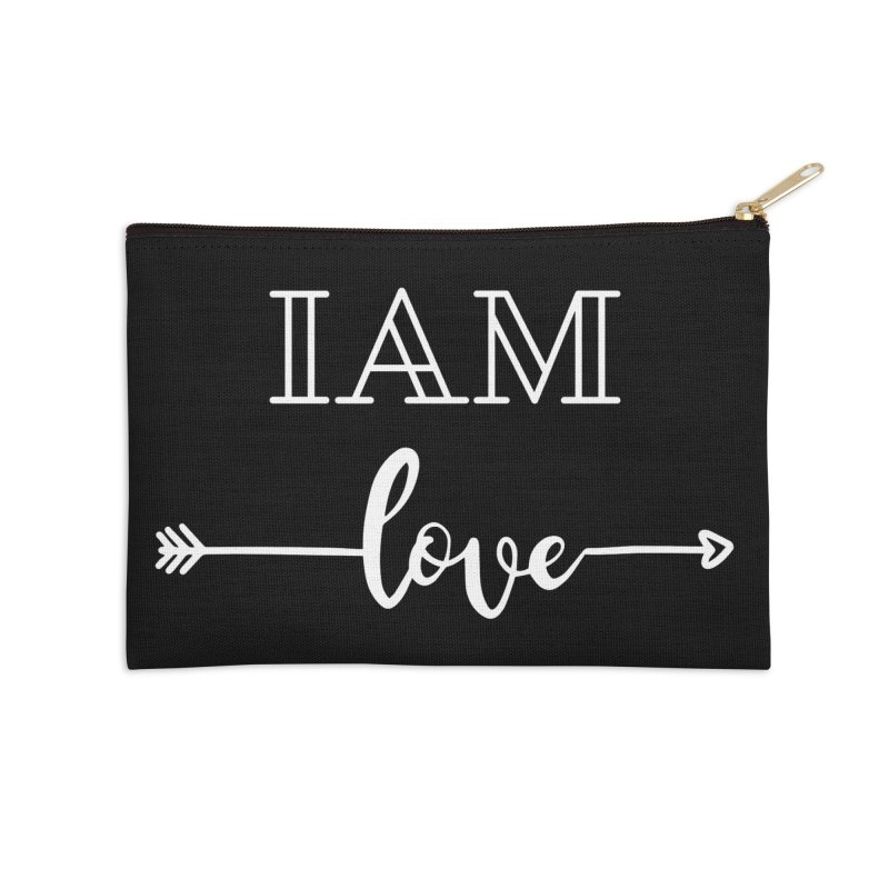 I Am Love Accessories Zip Pouch by Shop As You Wish Publishing