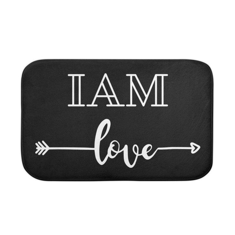 I Am Love Home Bath Mat by Shop As You Wish Publishing