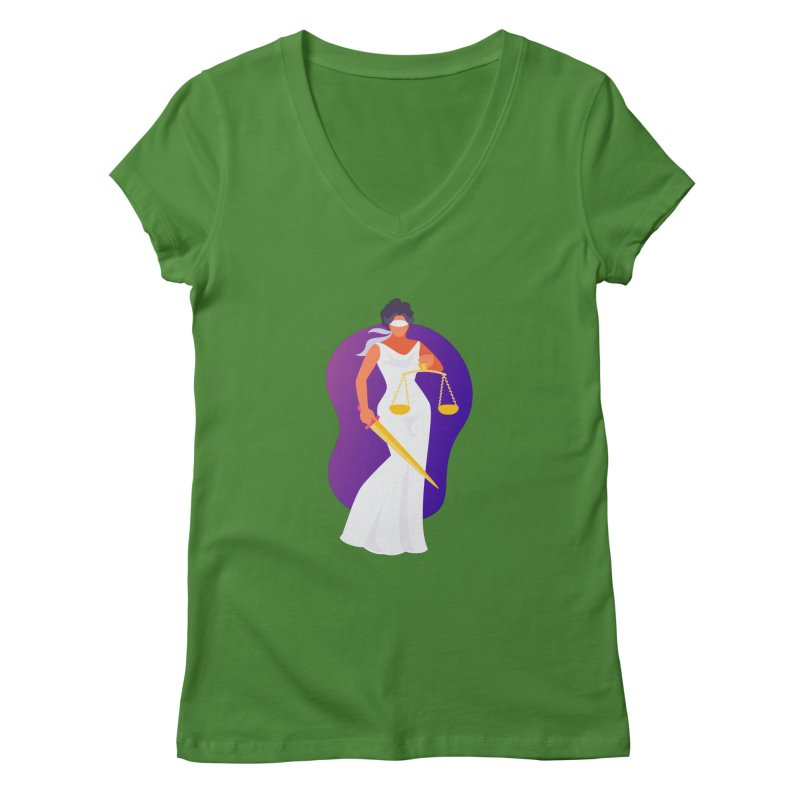 Goddess Divine Justice Women's V-Neck by Shop As You Wish Publishing