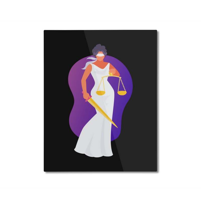 Goddess Divine Justice Home Mounted Aluminum Print by Shop As You Wish Publishing