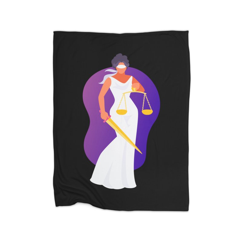 Goddess Divine Justice Home Blanket by Shop As You Wish Publishing