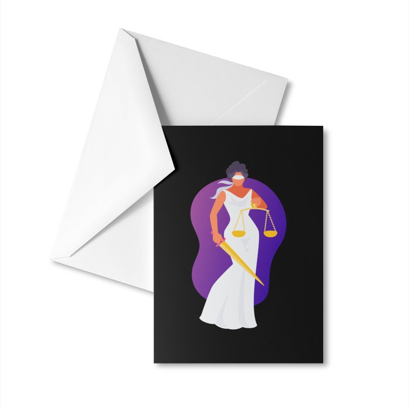 Goddess Divine Justice Accessories Greeting Card by Shop As You Wish Publishing
