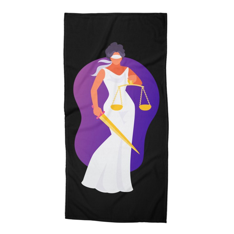 Goddess Divine Justice Accessories Beach Towel by Shop As You Wish Publishing