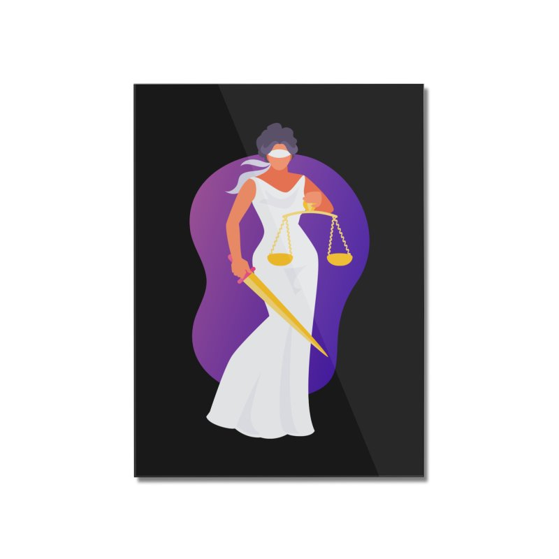 Goddess Divine Justice Home Mounted Acrylic Print by Shop As You Wish Publishing