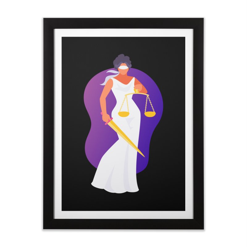 Goddess Divine Justice Home Framed Fine Art Print by Shop As You Wish Publishing