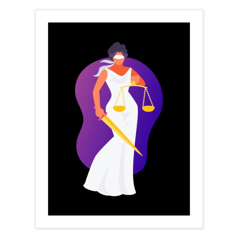 Goddess Divine Justice Home Fine Art Print by Shop As You Wish Publishing