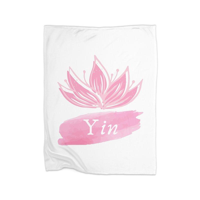 Lotus Yin Home Blanket by Shop As You Wish Publishing