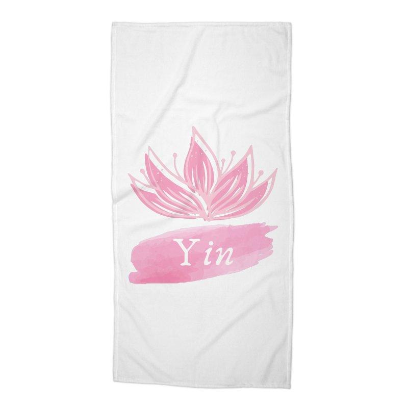 Lotus Yin Accessories Beach Towel by Shop As You Wish Publishing