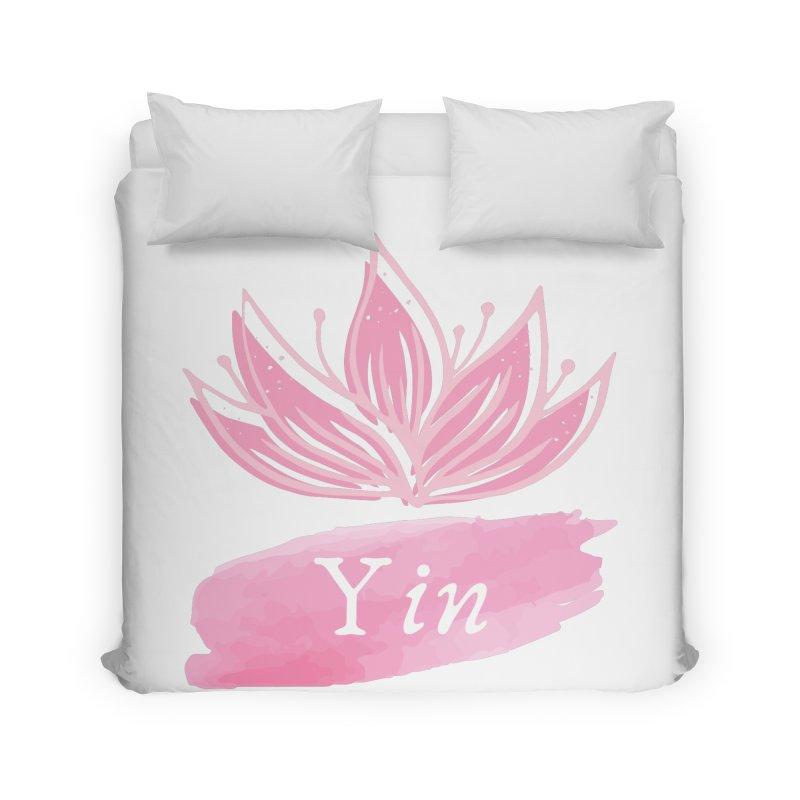 Lotus Yin Home Duvet by Shop As You Wish Publishing