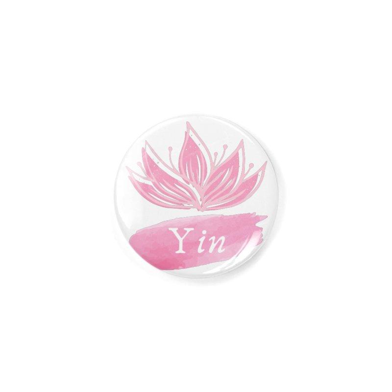 Lotus Yin Accessories Button by Shop As You Wish Publishing