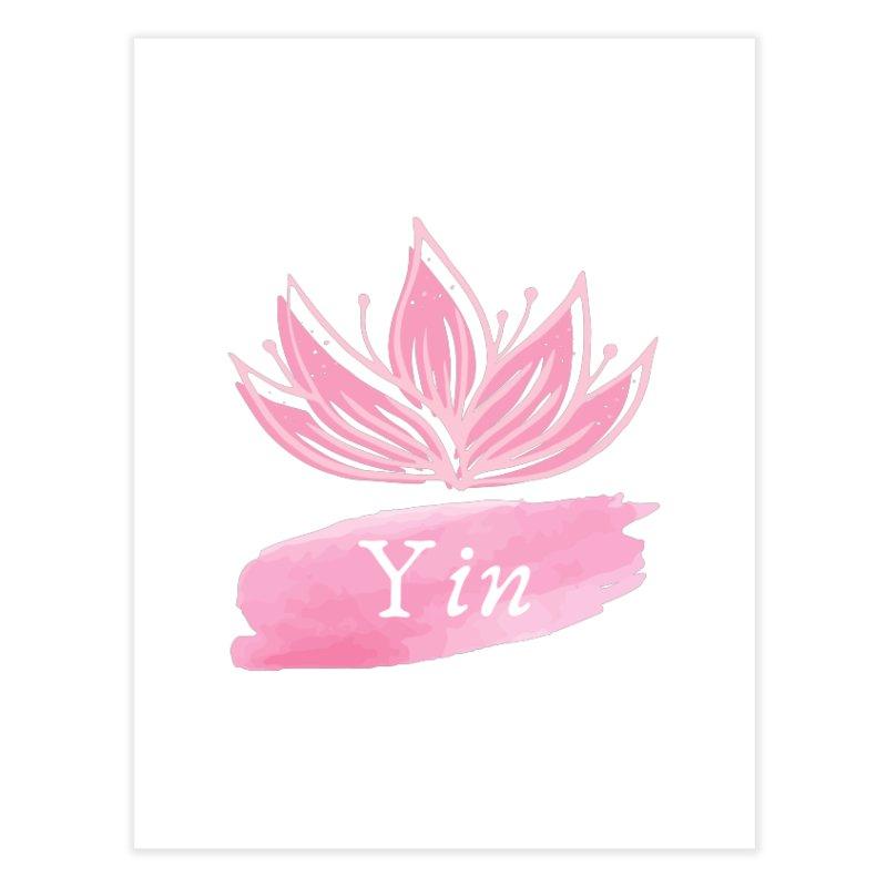 Lotus Yin Home Fine Art Print by Shop As You Wish Publishing