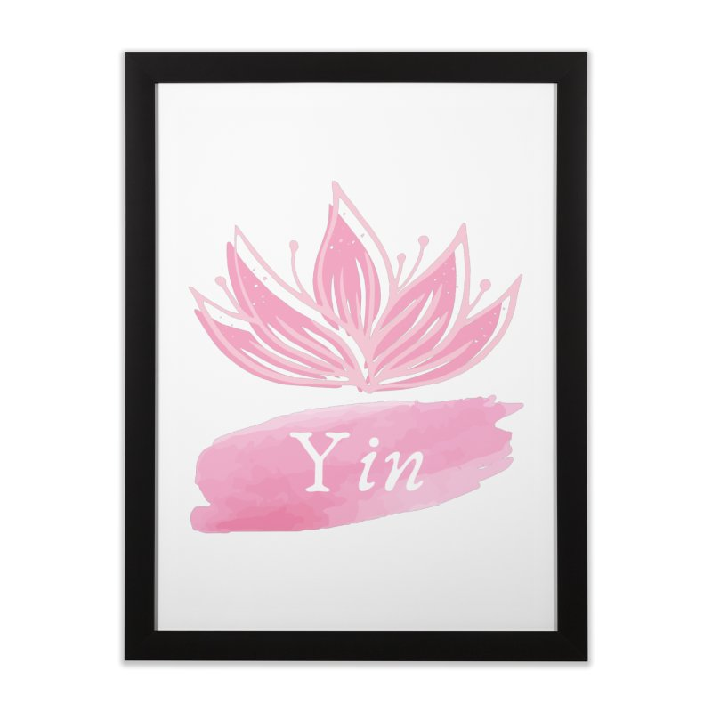 Lotus Yin Home Framed Fine Art Print by Shop As You Wish Publishing