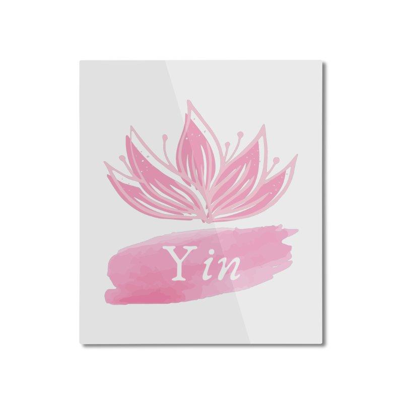 Lotus Yin Home Mounted Aluminum Print by Shop As You Wish Publishing
