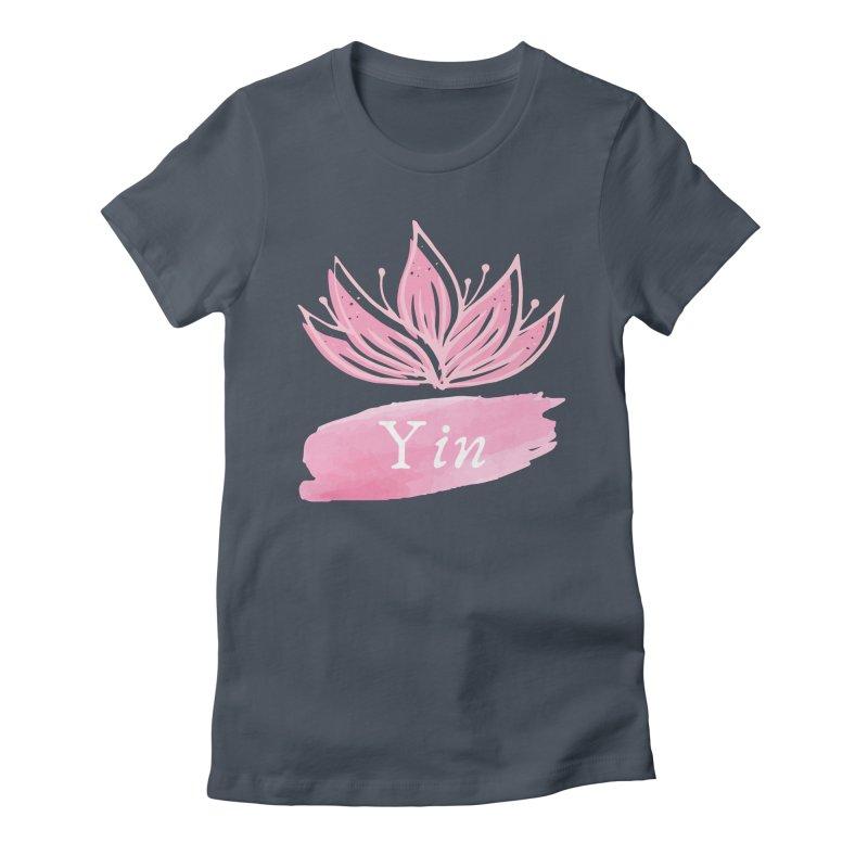 Lotus Yin Women's T-Shirt by Shop As You Wish Publishing