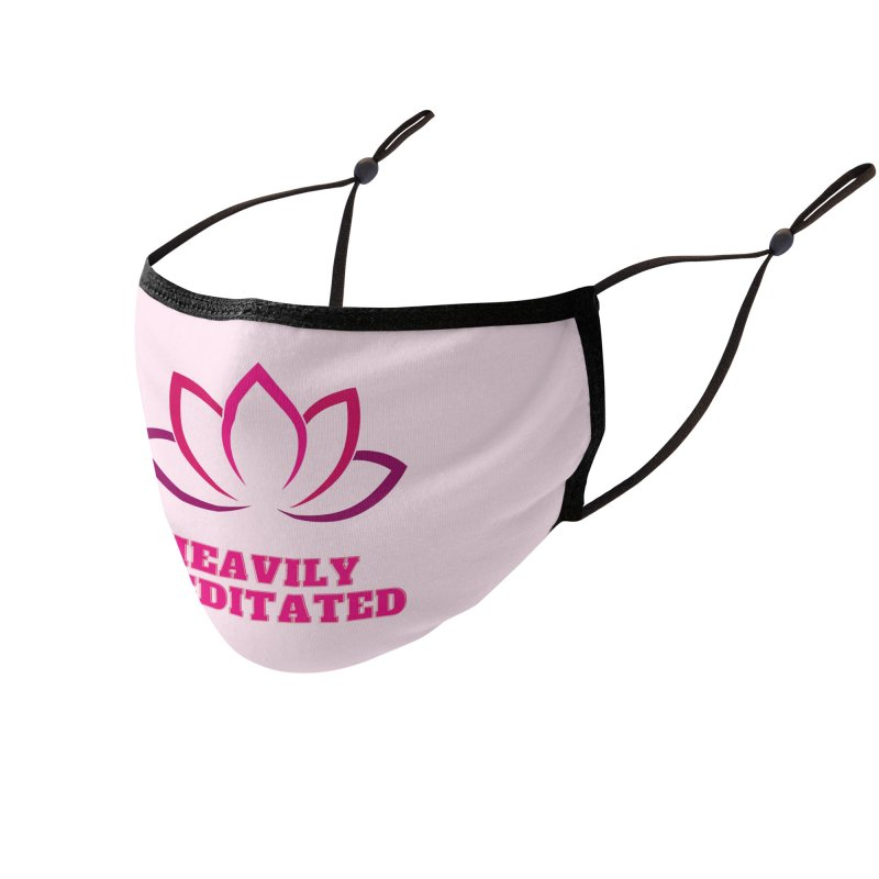 Heavily Meditated Accessories Face Mask by Shop As You Wish Publishing