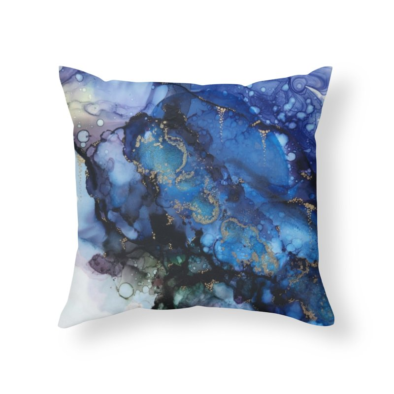 Mermaid Home Throw Pillow by Abyss Arts by Britt