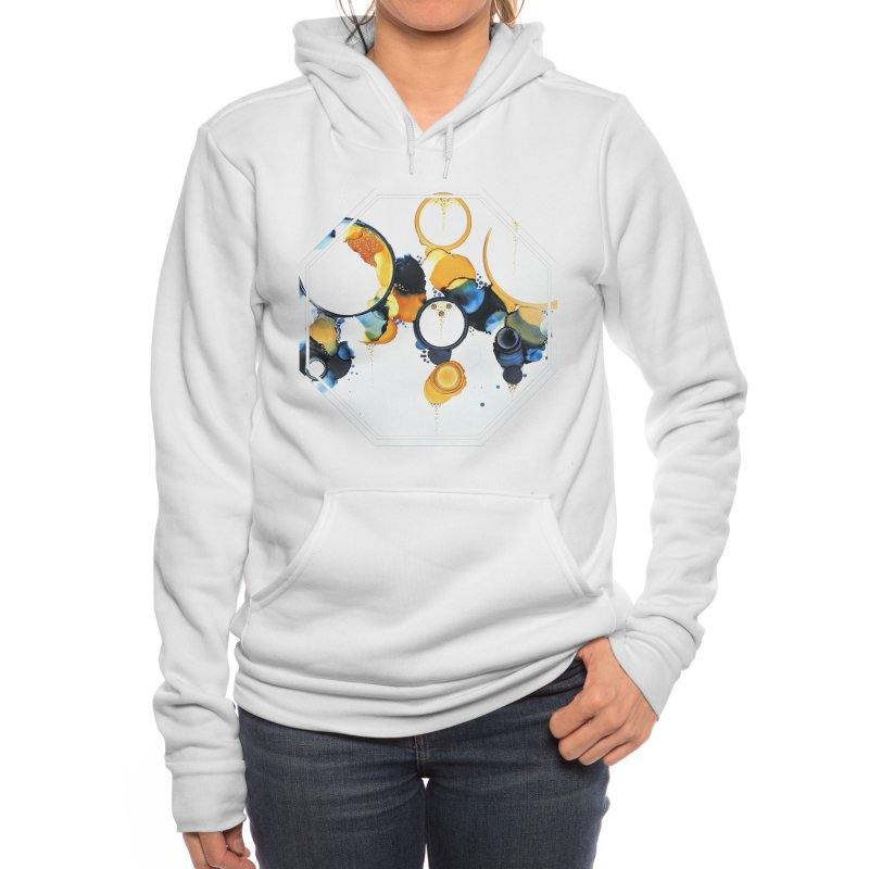 Crescent Women's Pullover Hoody by Abyss Arts by Britt