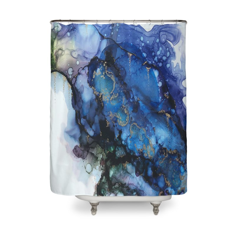 Mermaid Home Shower Curtain by Abyss Arts by Britt