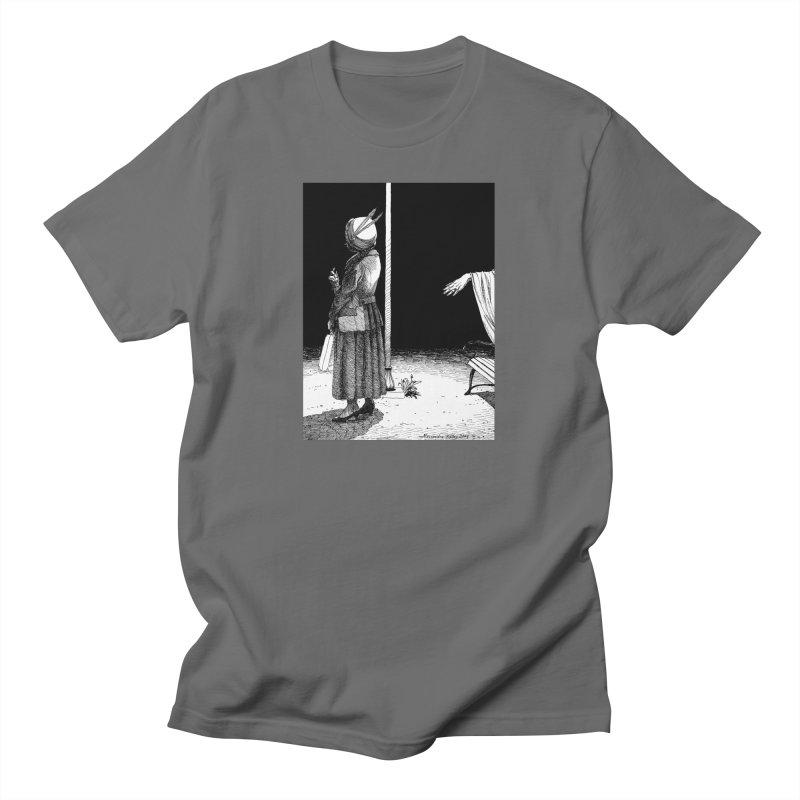 BUS STOP (PEN AND INK) Men's T-Shirt by AchronalArt's Artist Shop