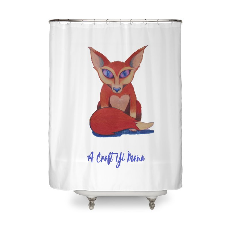 Foxxy Home Shower Curtain by Acraftyimama's Artist Shop