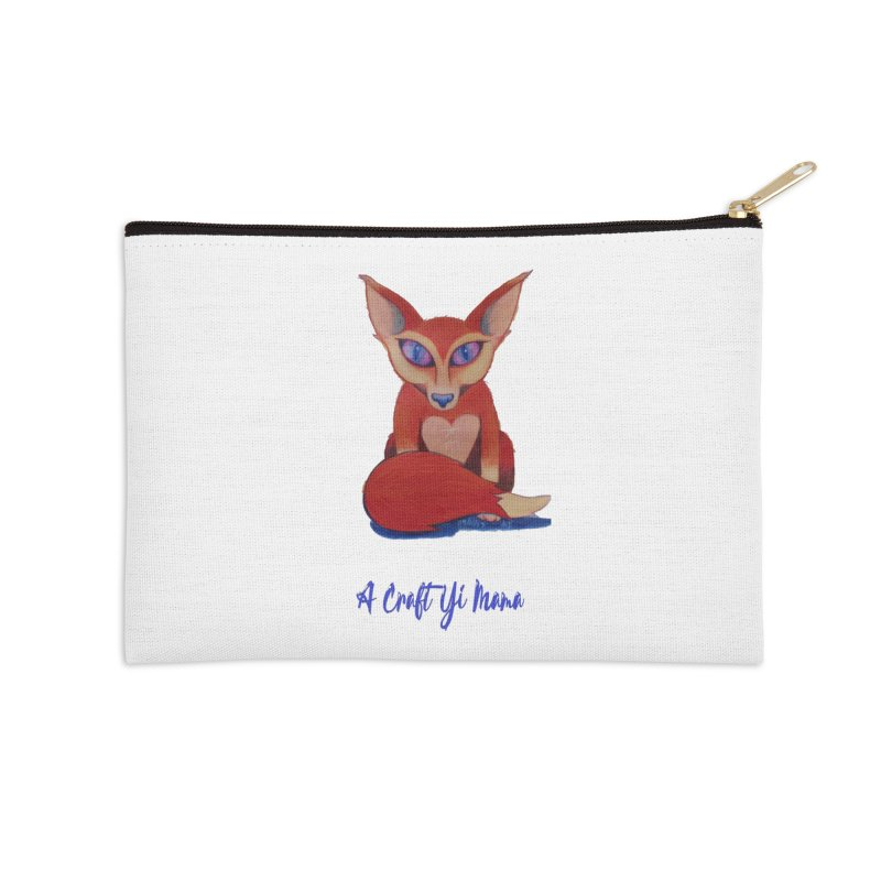 Foxxy Accessories Zip Pouch by Acraftyimama's Artist Shop