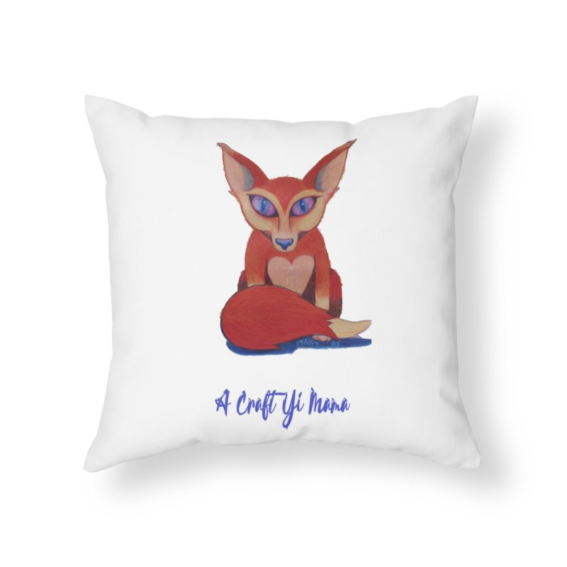 Foxxy Home Throw Pillow by Acraftyimama's Artist Shop