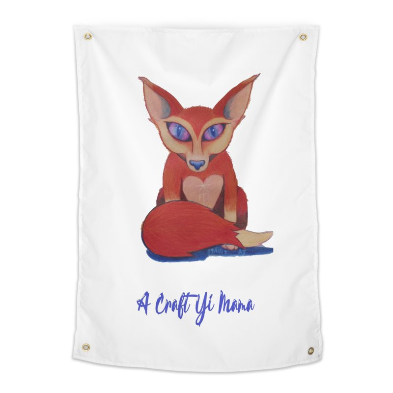 Foxxy Home Tapestry by Acraftyimama's Artist Shop
