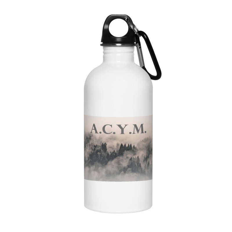 Foggy Forest Accessories Water Bottle by Acraftyimama's Artist Shop