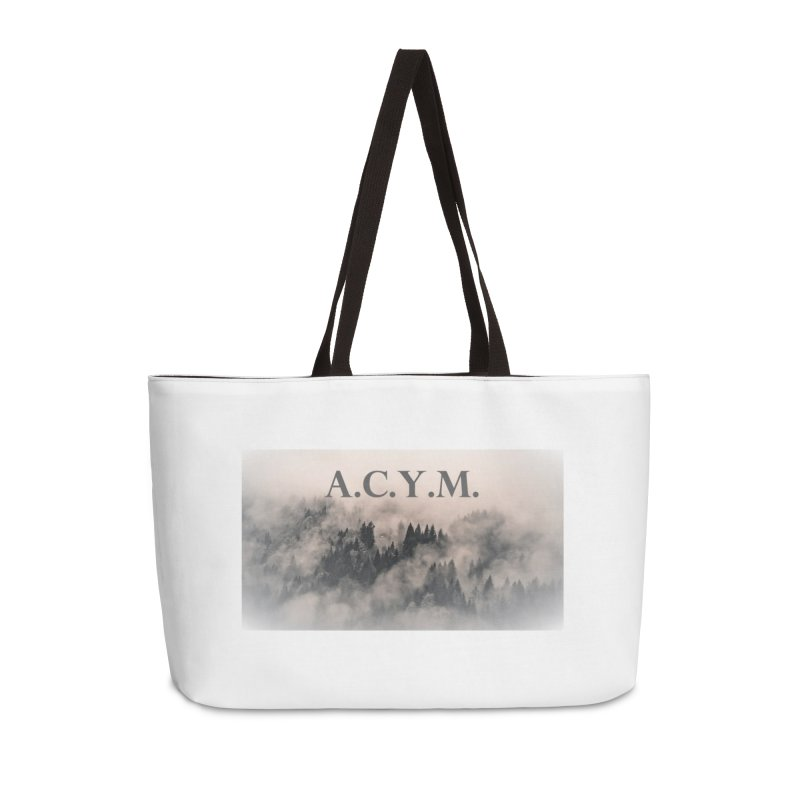 Foggy Forest Accessories Weekender Bag Bag by Acraftyimama's Artist Shop