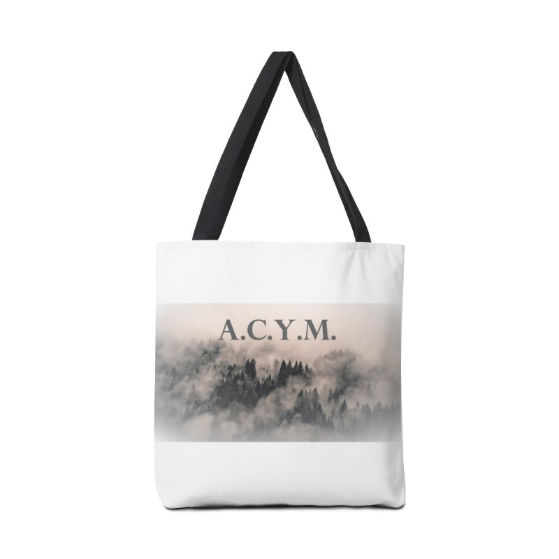 Foggy Forest Accessories Tote Bag Bag by Acraftyimama's Artist Shop