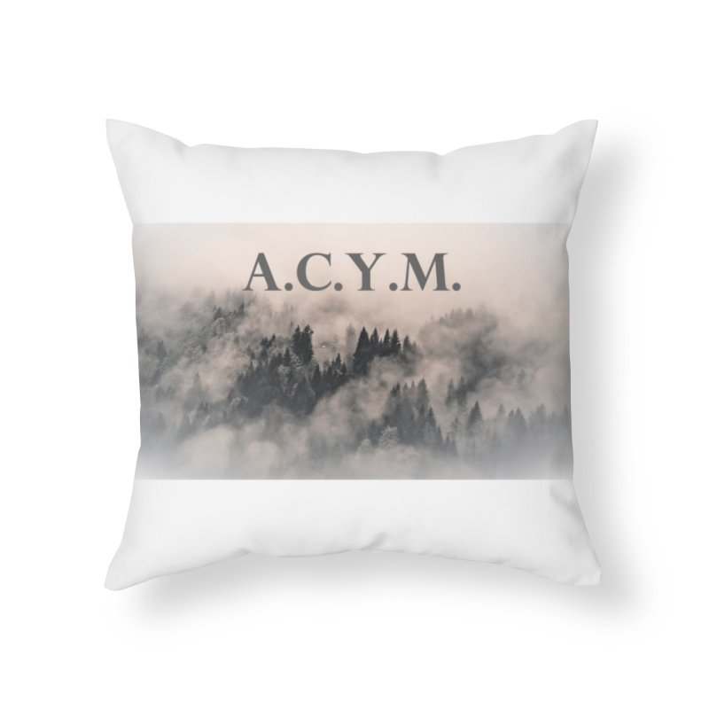 Foggy Forest Home Throw Pillow by Acraftyimama's Artist Shop