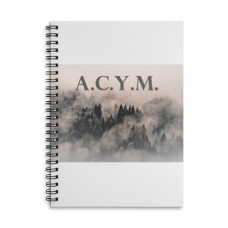 Foggy Forest Accessories Lined Spiral Notebook by Acraftyimama's Artist Shop