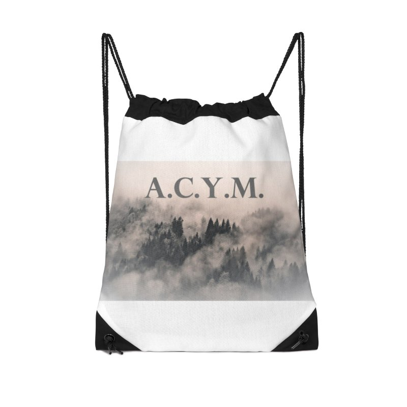 Foggy Forest Accessories Drawstring Bag Bag by Acraftyimama's Artist Shop